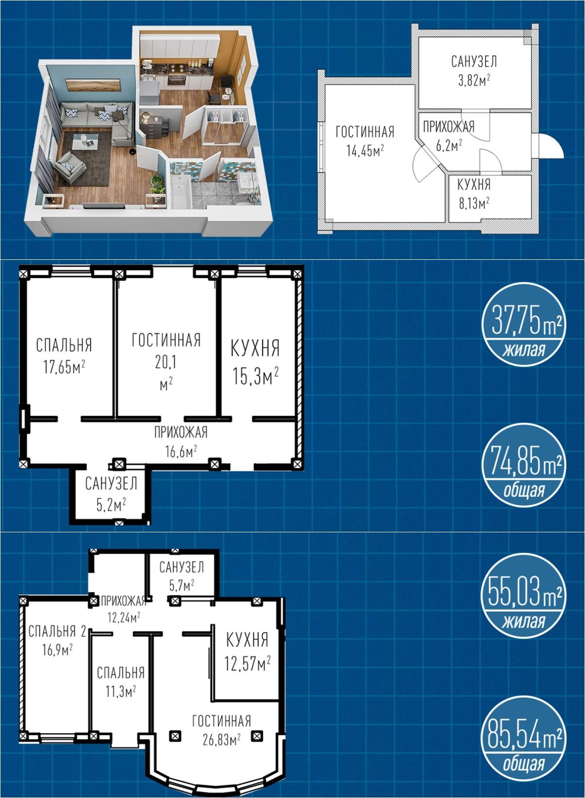 ЖК Лондон Парк варианты планировок квартир