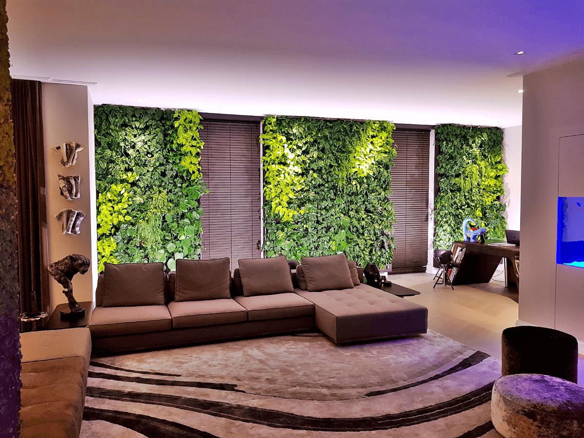 Эко-стиль в интерьере вертикальное озеленение