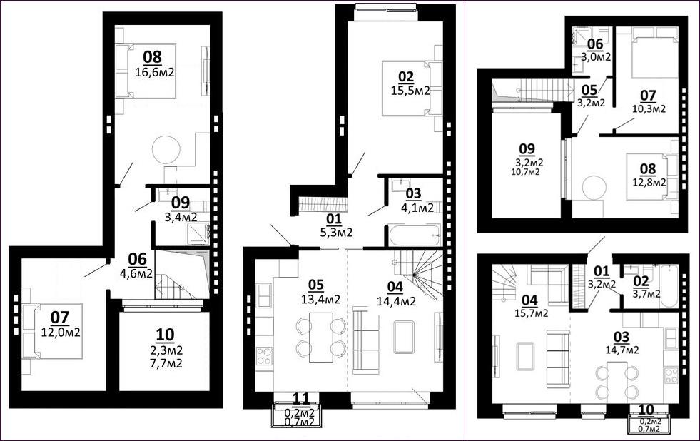 ЖК Белый Шоколад планировки квартир с террасой
