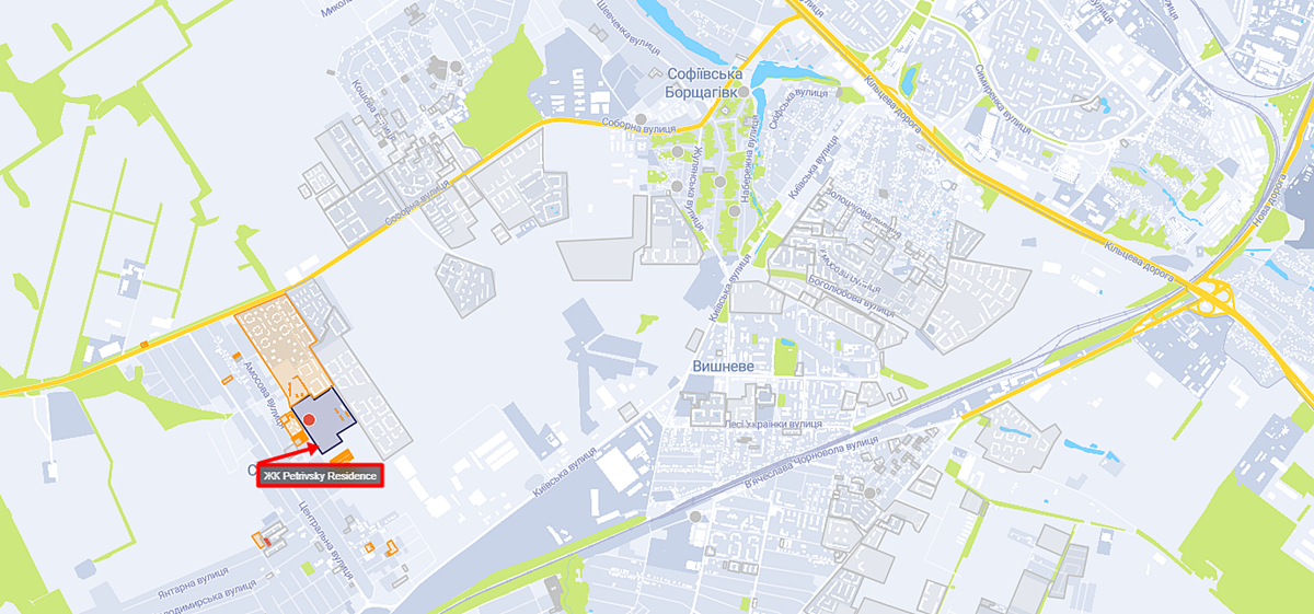 ЖК Petrivsky Residence на карте