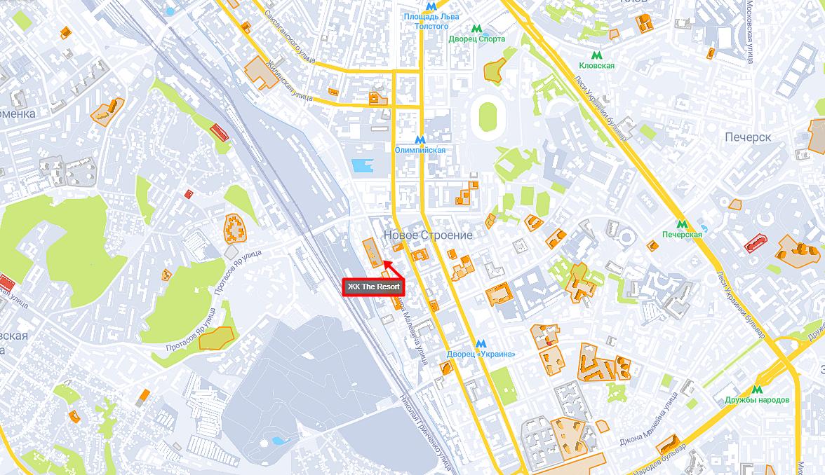 ЖК Зе Резорт на карте