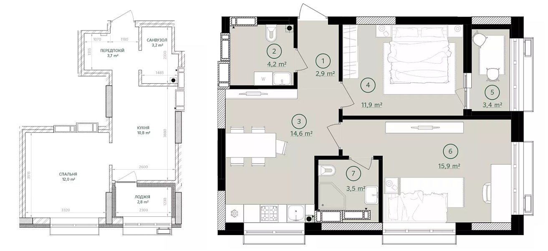 Дом на Вавиловых варианты планировки квартир