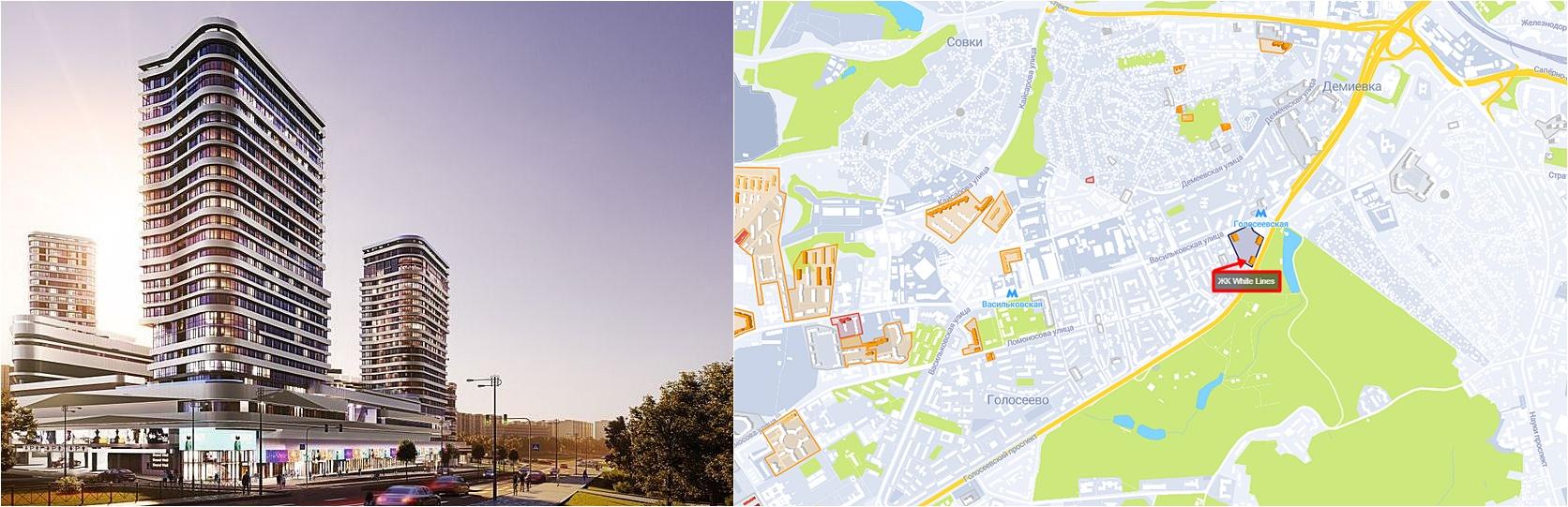 ЖК Вайт Лайнз визуализация и на карте