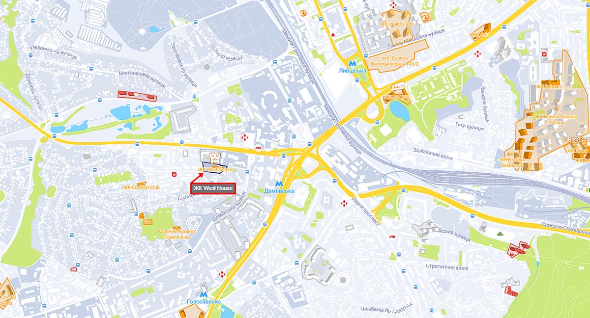 ЖК Вест Хаус на карте