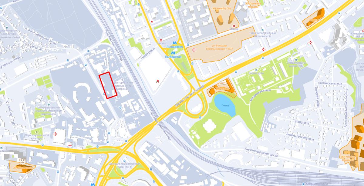 Проект по ул. Изюмская, 7 на карте