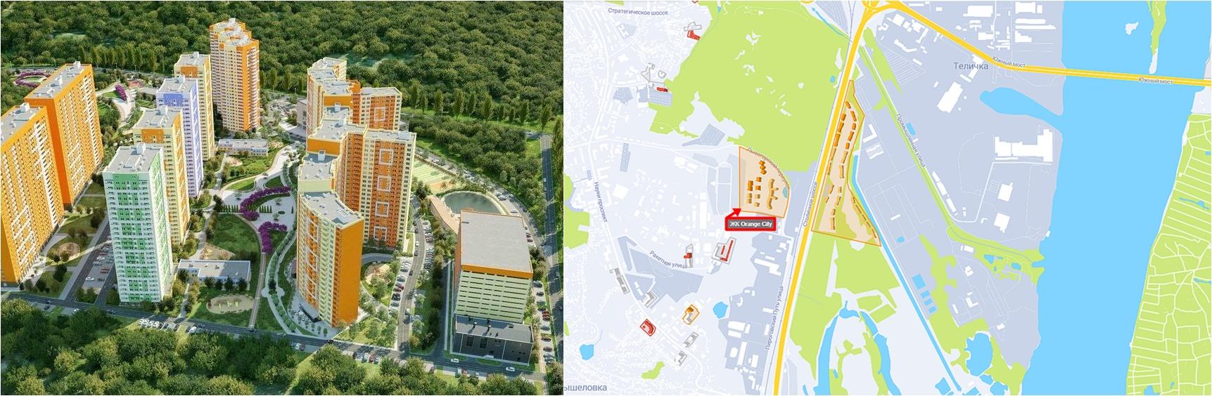 ЖК Оранж Сити визуализация и на карте