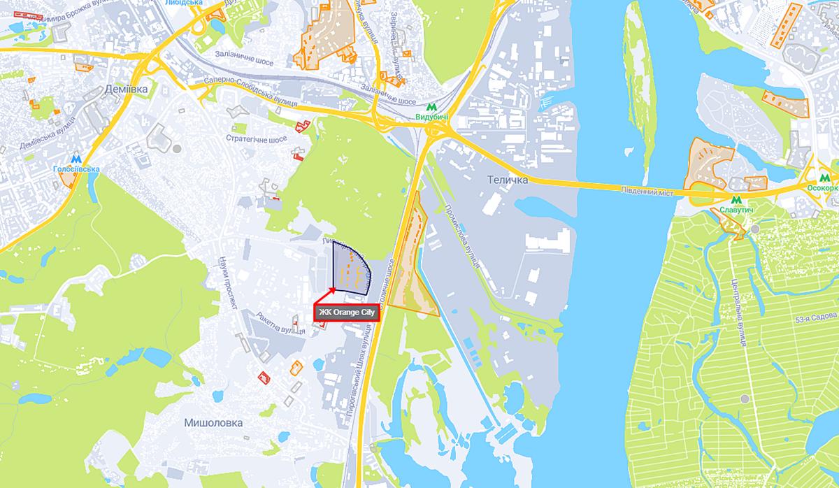ЖК Оранж Сити на карте