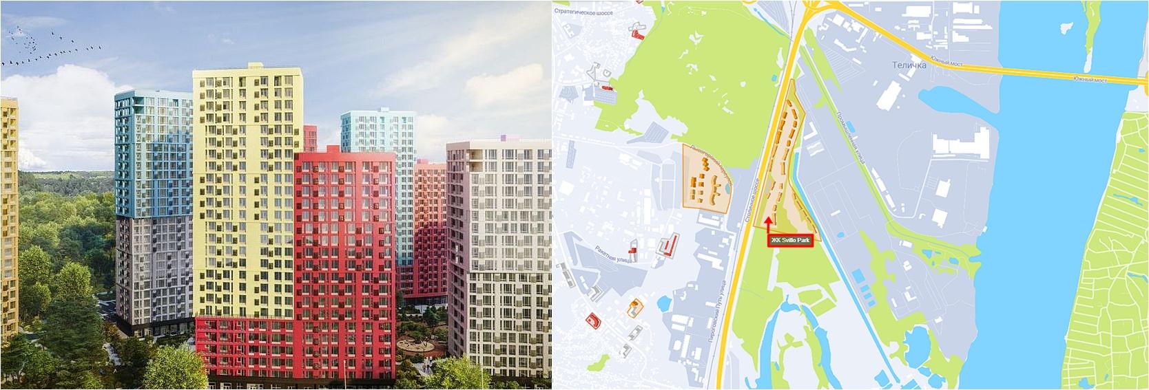 ЖК Свитло Парк визуализация и на карте