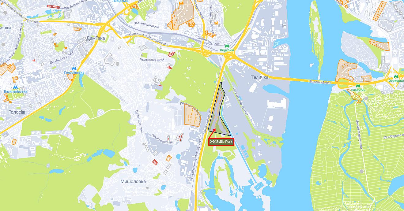 ЖК Свитло Парк на карте