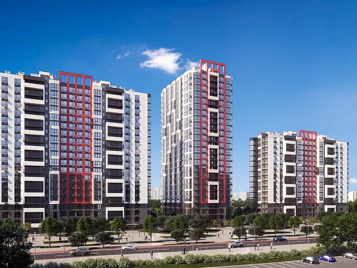 ЖК 7 Kvartal три дома переменной этажности