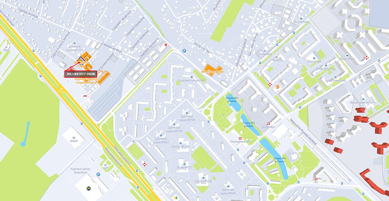 ЖК Liberty Park на карте