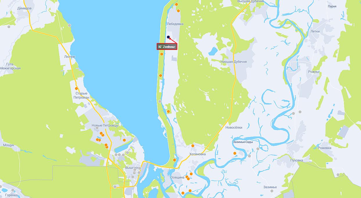 КГ Zenhouz на карте