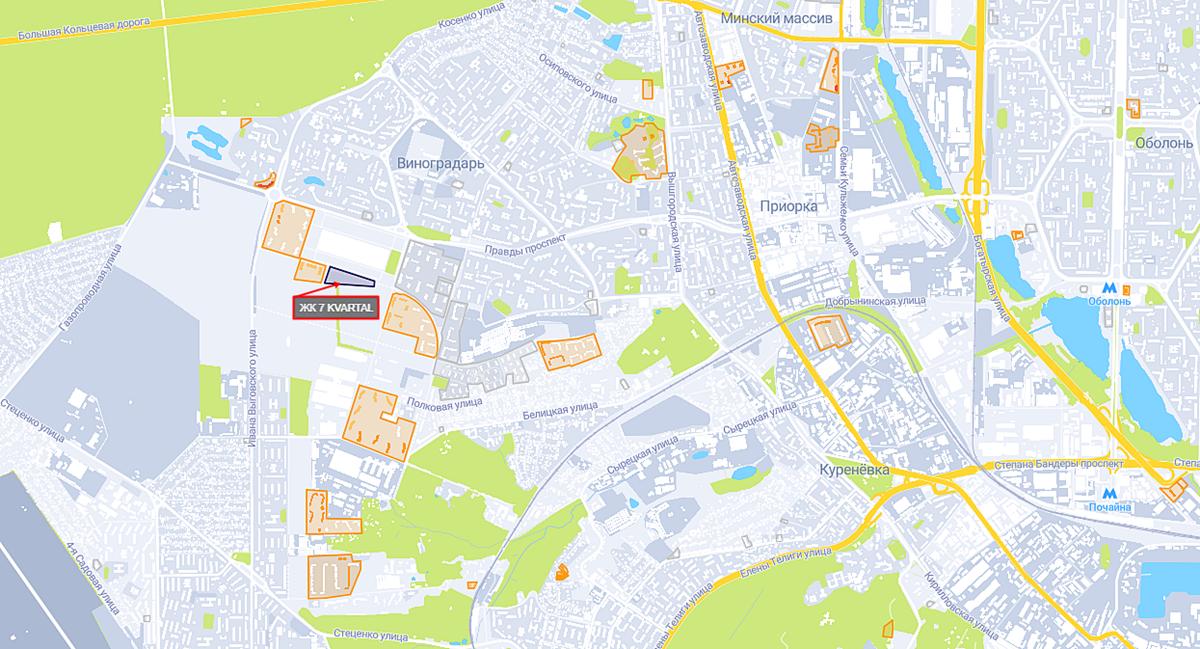 ЖК 7 Kvartal на карте