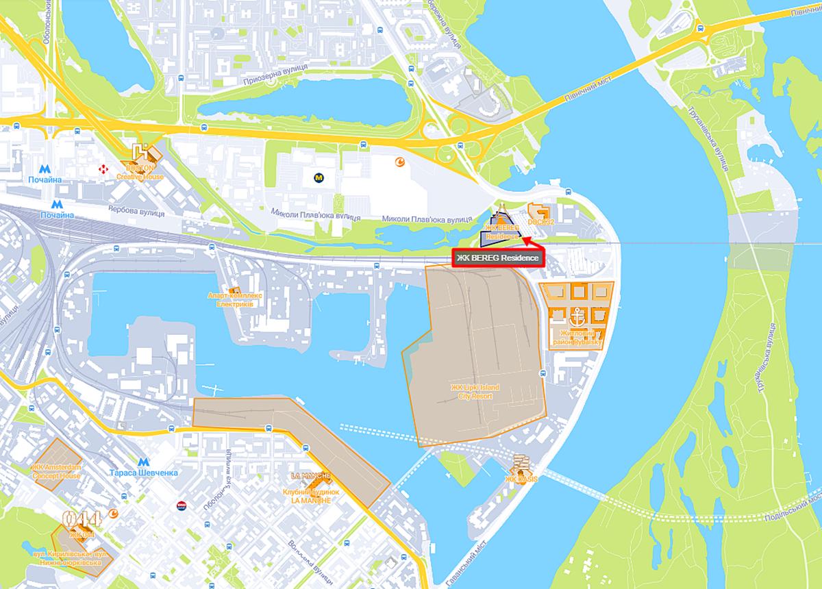 ЖК BEREG Residence на карте