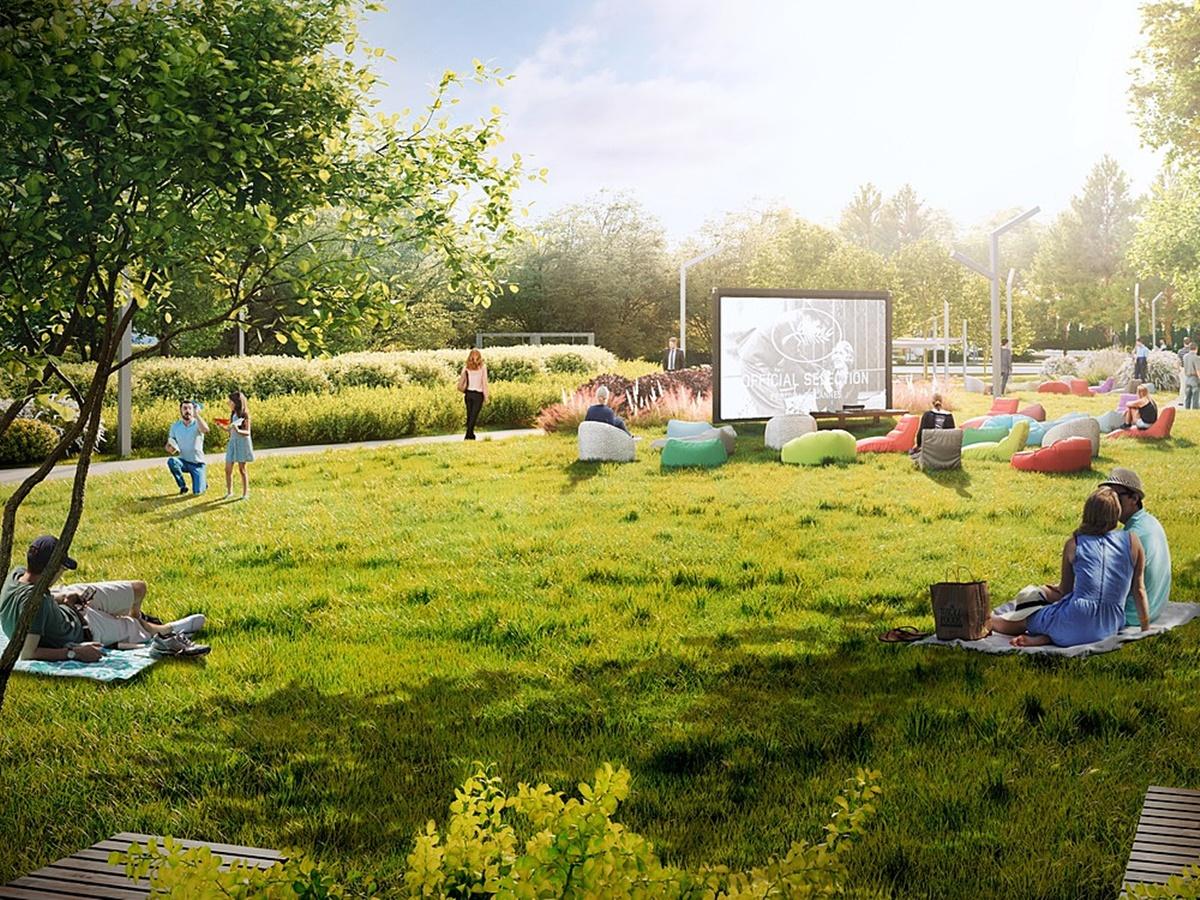 ЖК 7 Квартал визуализация территории парк