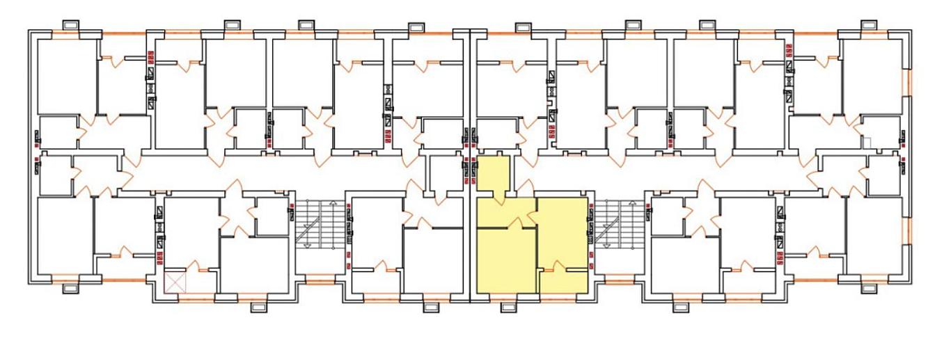 ЖК Бургундия поэтажный план двухсекционного дома