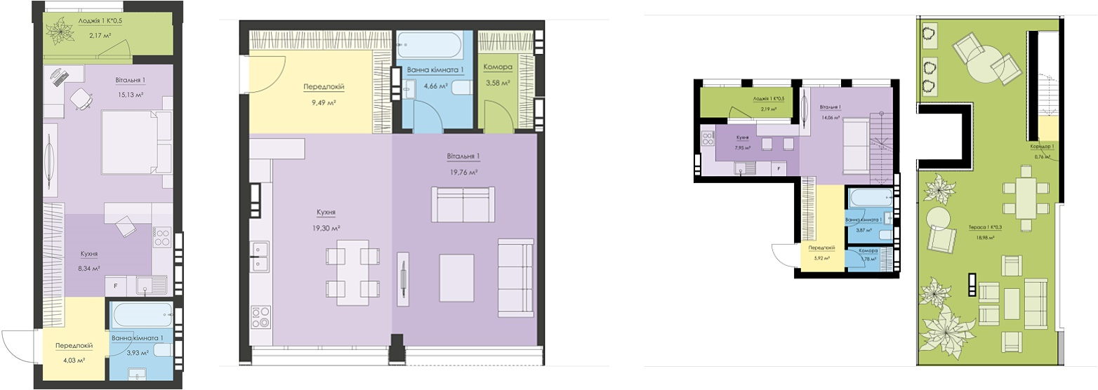 Новый Подол варианты планировок однокомнатных квартир