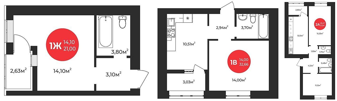 ЖК Молодость варианты планировок квартир