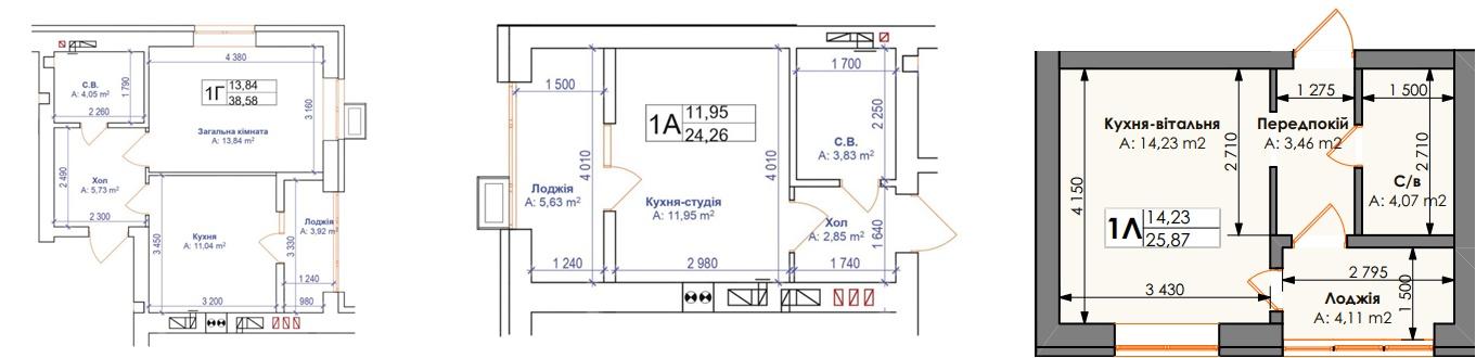 ЖК Бургундия варианты планировок студио и однокомнатных квартир
