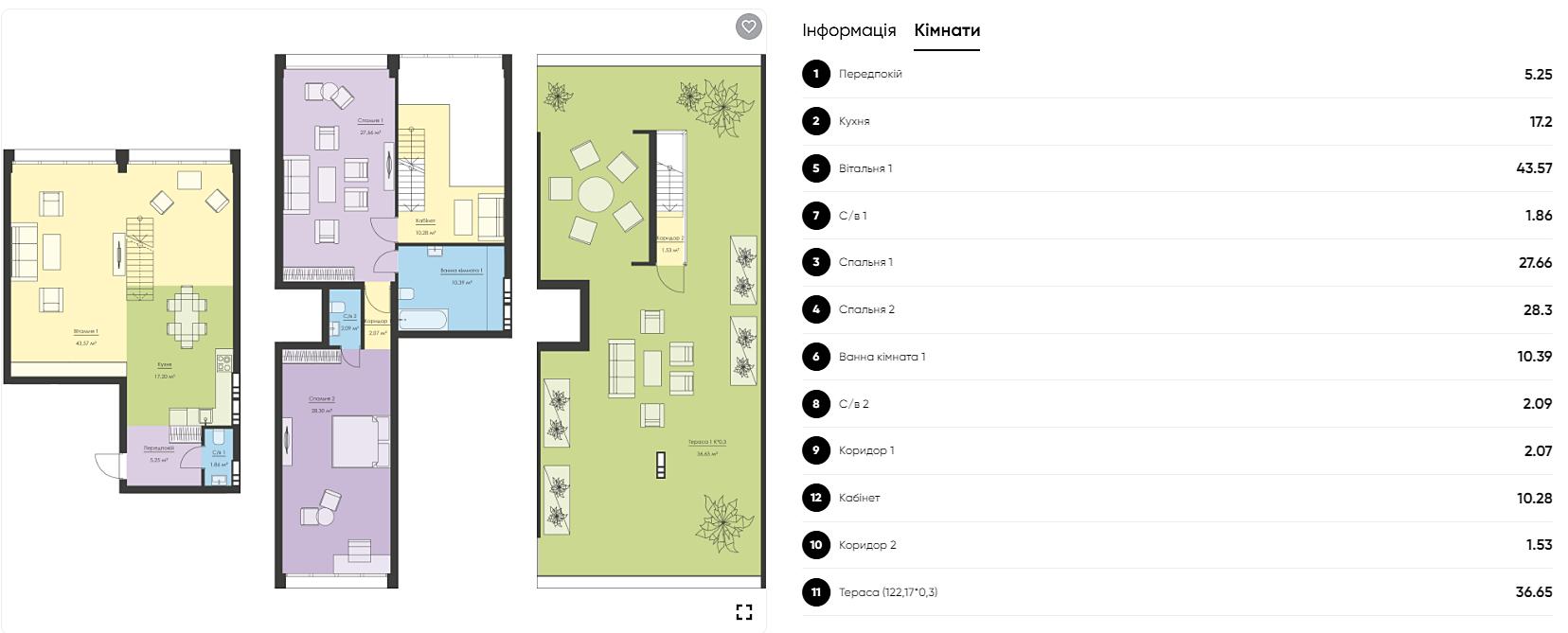 ЖК Новый Подол вариант планировки трехуровневой квартиры