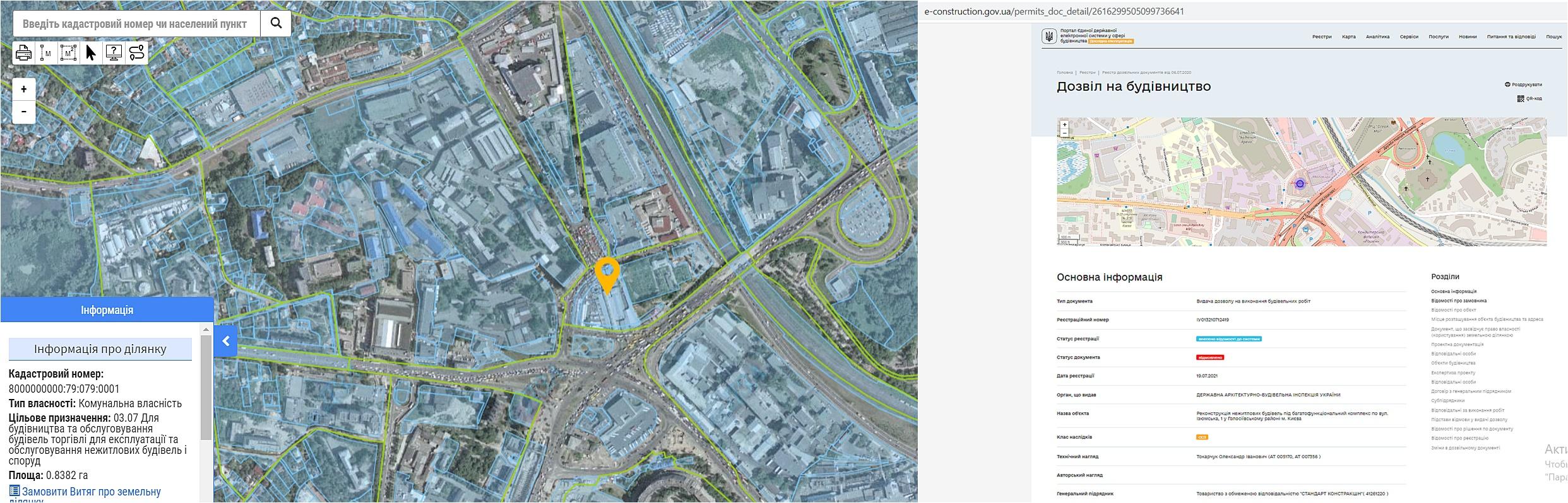 Проект по ул. Изюмская, 1 данные кадастра и разрешение на строительство