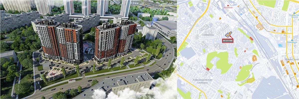 ЖК Сити Хаб визуализация и на карте