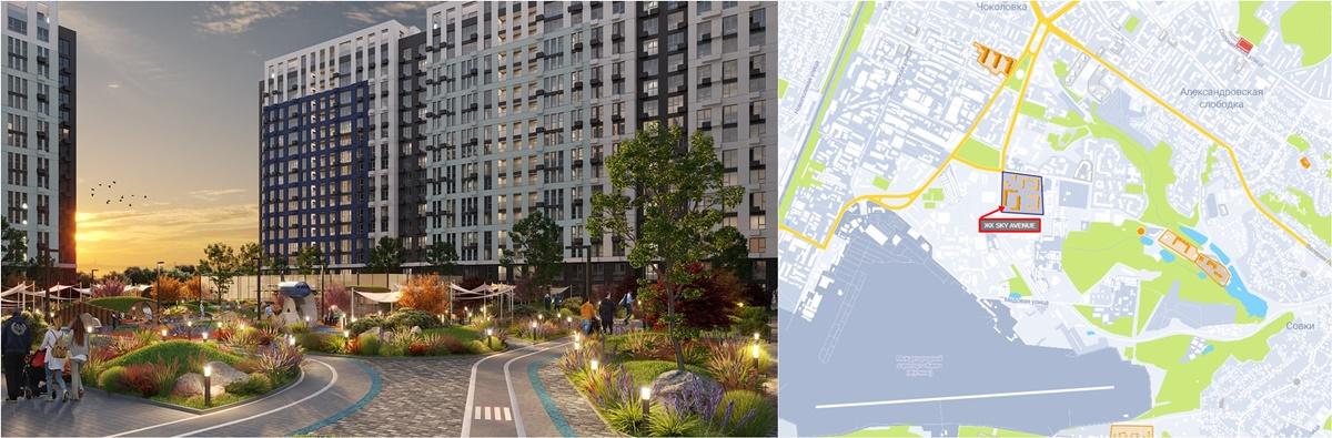 ЖК Скай Авеню визуализация и на карте
