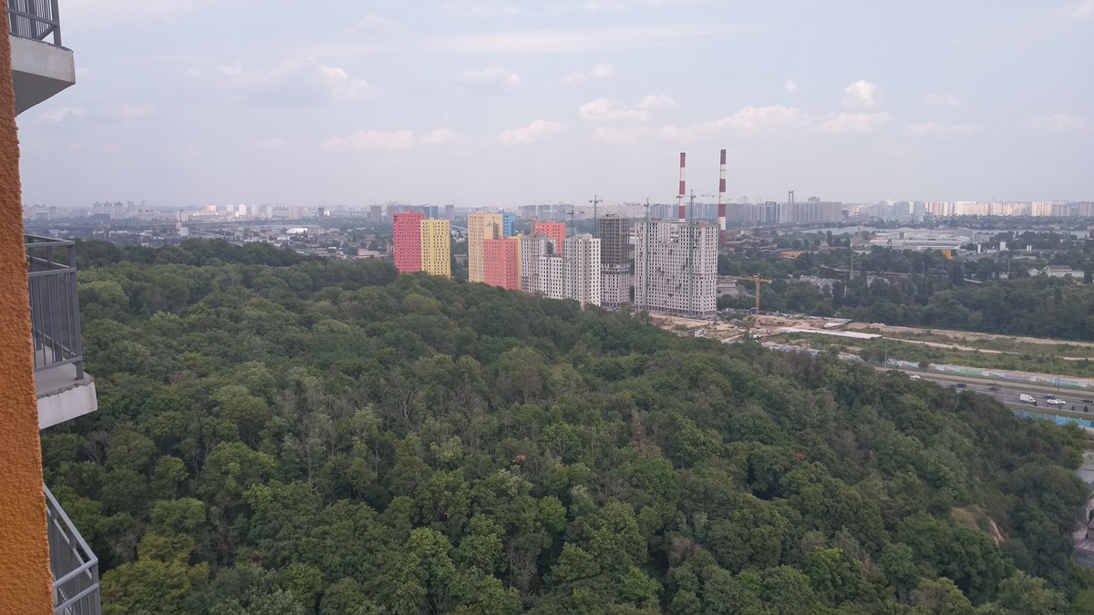 ЖК Оранж Сити вид из окон
