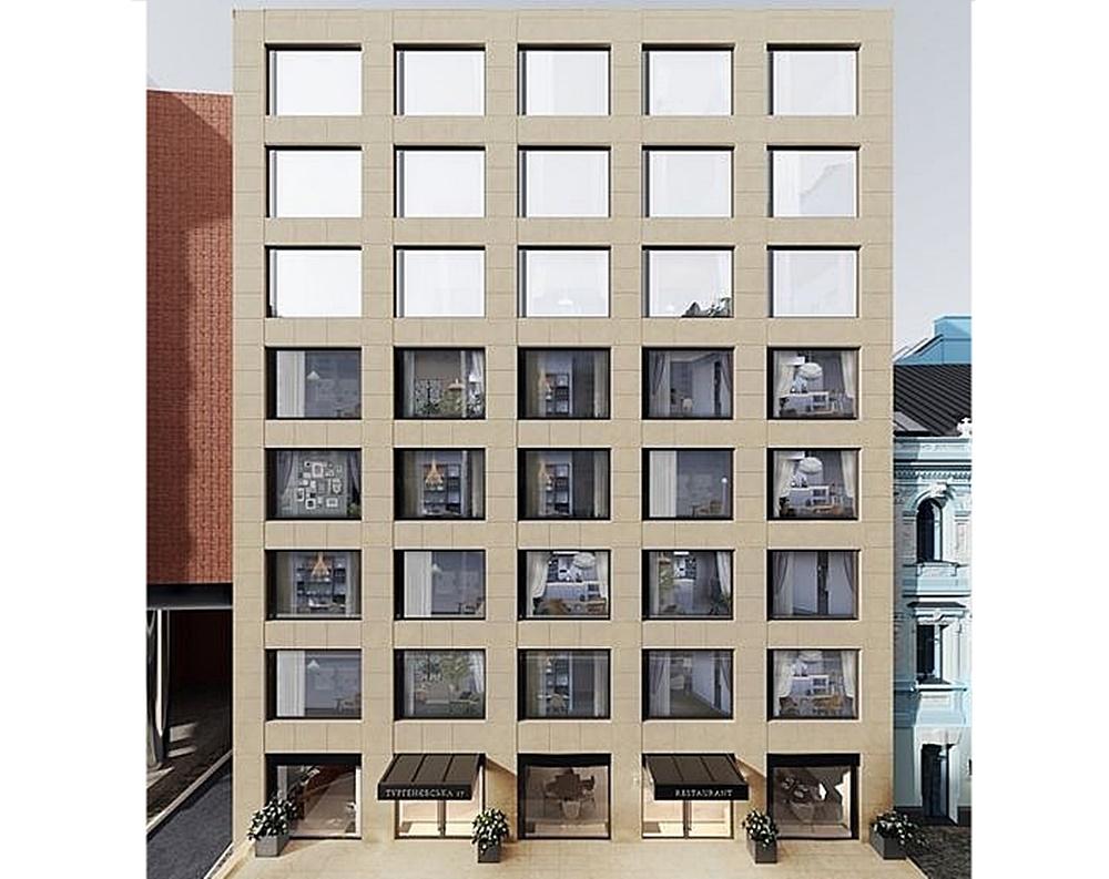 Доходный дом на Тургеневской, 17 визуализация фасада