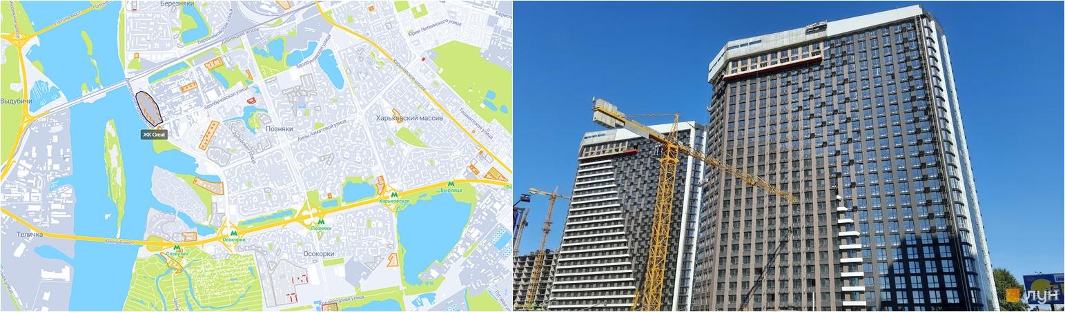 ЖК Грейт на карте и внешний вид построенных домов