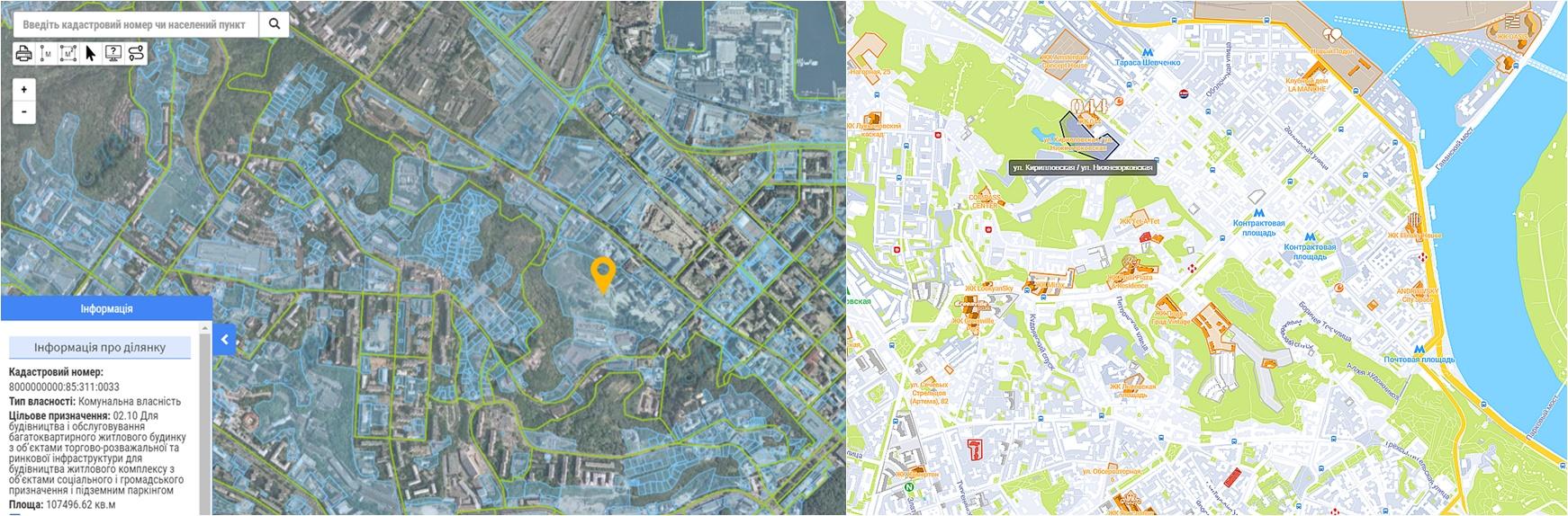 Проект ЖК между улицами Кирилловская и Нижнеюрковская данные кадастра и на карте