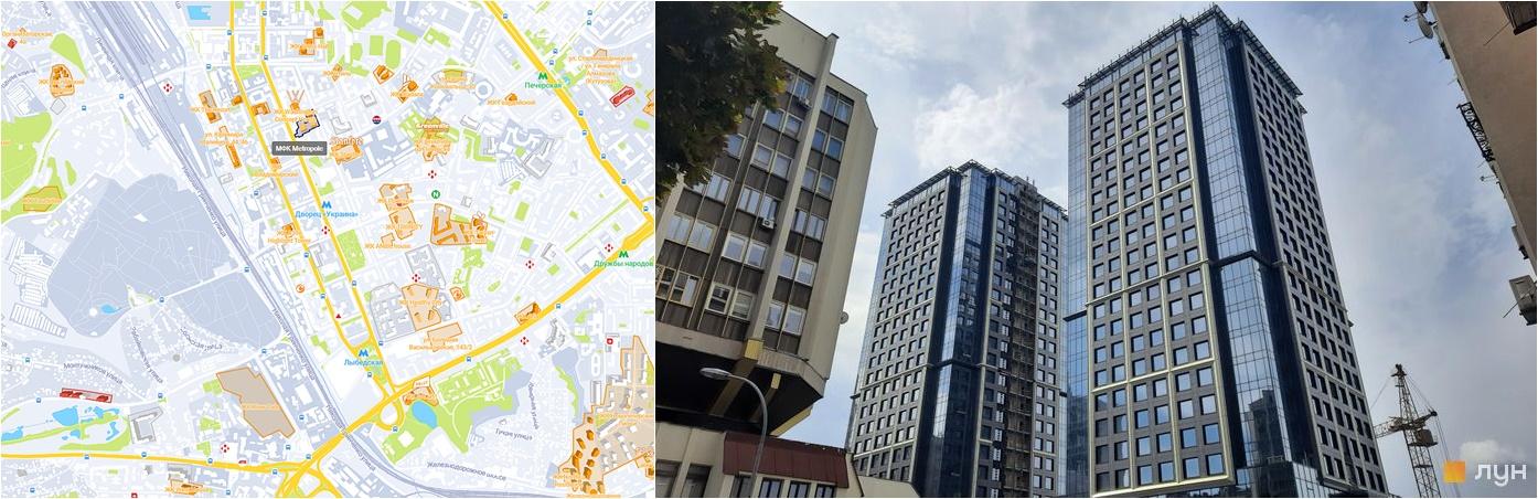 МФК Метрополь на карте и внешний вид построенных домов