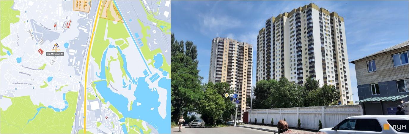 ЖК переулок Моторный, 11 на карте и внешний вид построенных домов