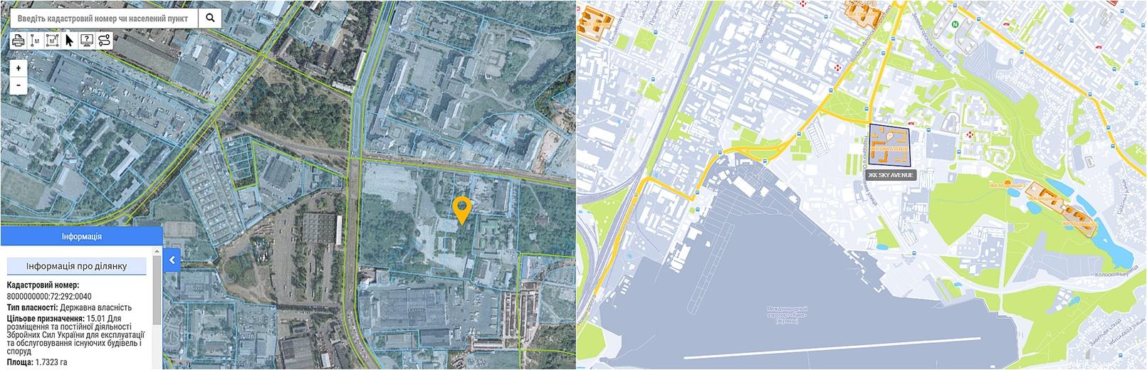 ЖК Скай Авеню новая очередь данные кадастра и на карте