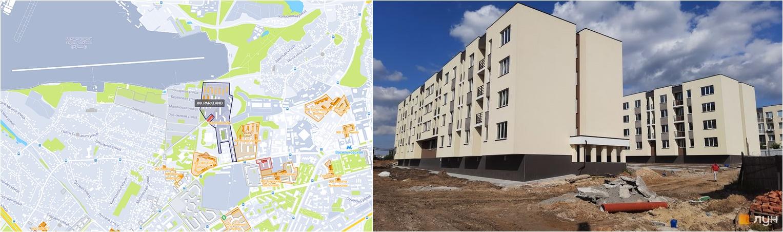 ЖК ПаркЛэнд на карте и внешний вид построенных домов