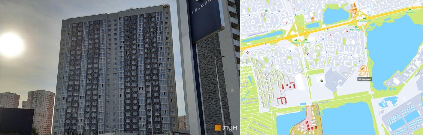 ЖК Ревуцкий месторасположение и внешний вид домов