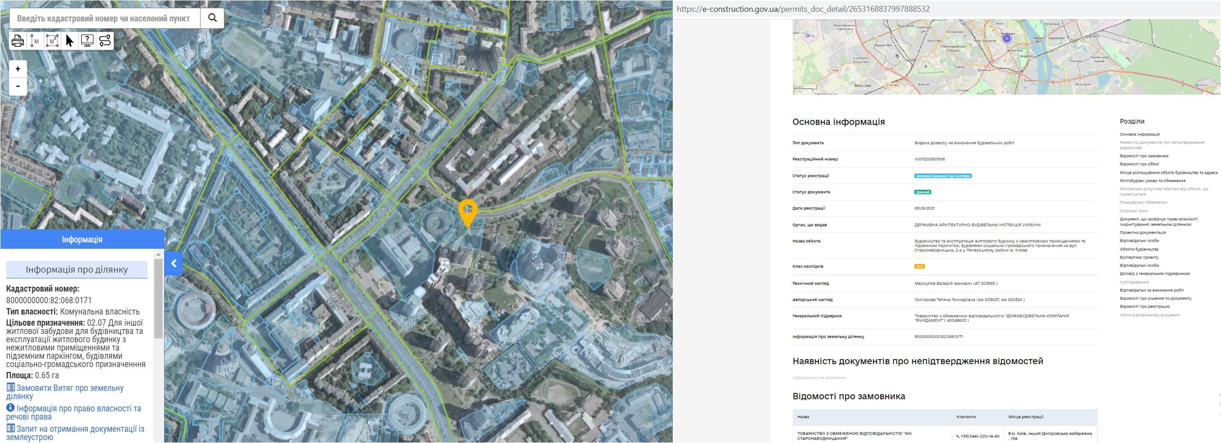 Проект ЖК по ул. Старонаводницкая, 2-А данные кадастра и Разрешение в реестре