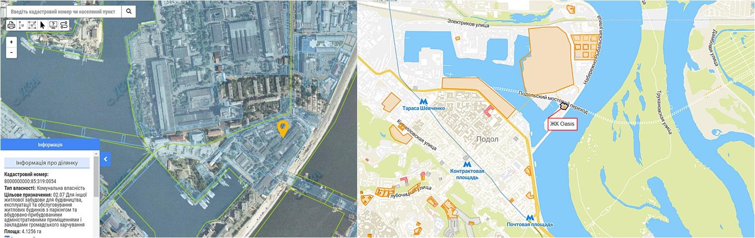 ЖК Оазис вторая очередь данные кадастра и на карте