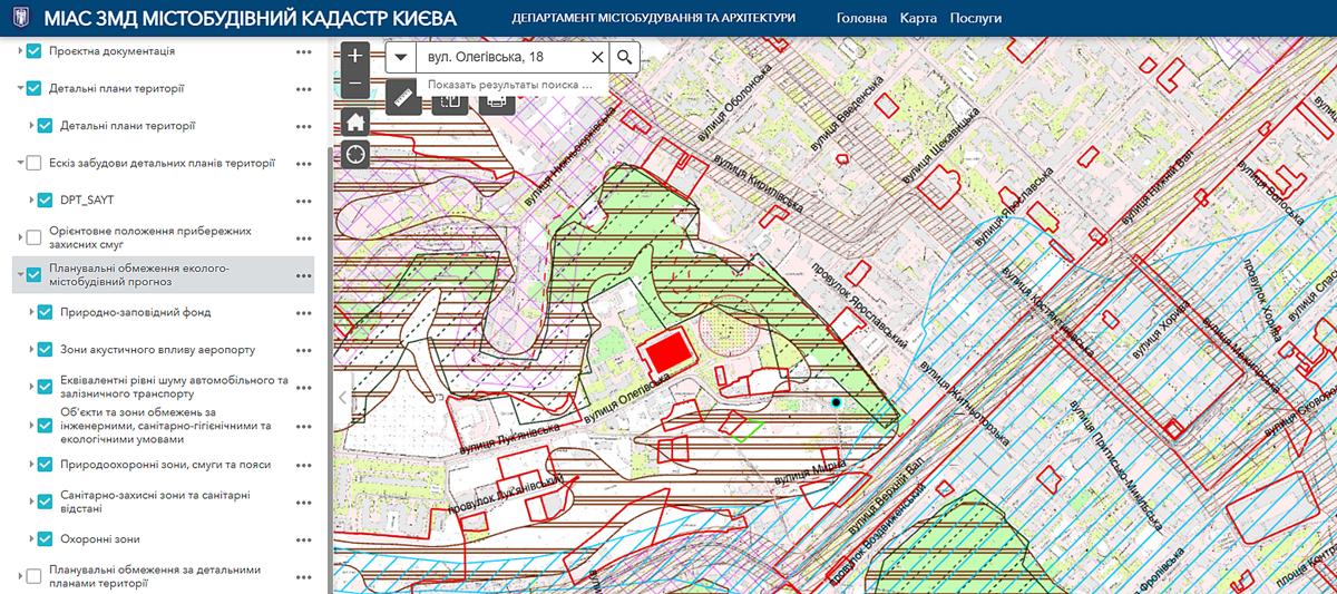 ЖК Tet-a-Tet участок застройки в градостроительном кадастре