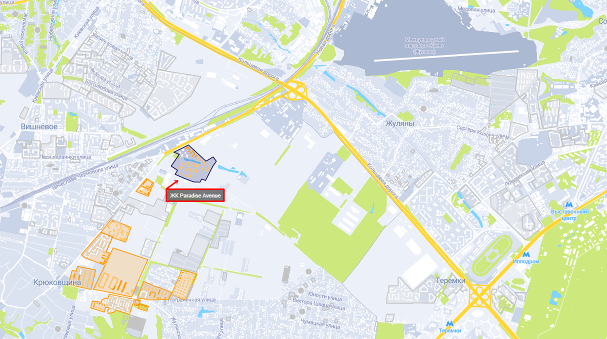 ЖК Paradise Avenue на карте