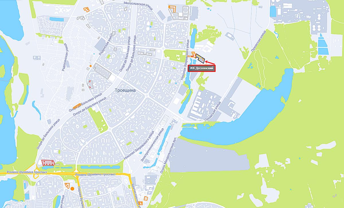 ЖК Деснянский на карте