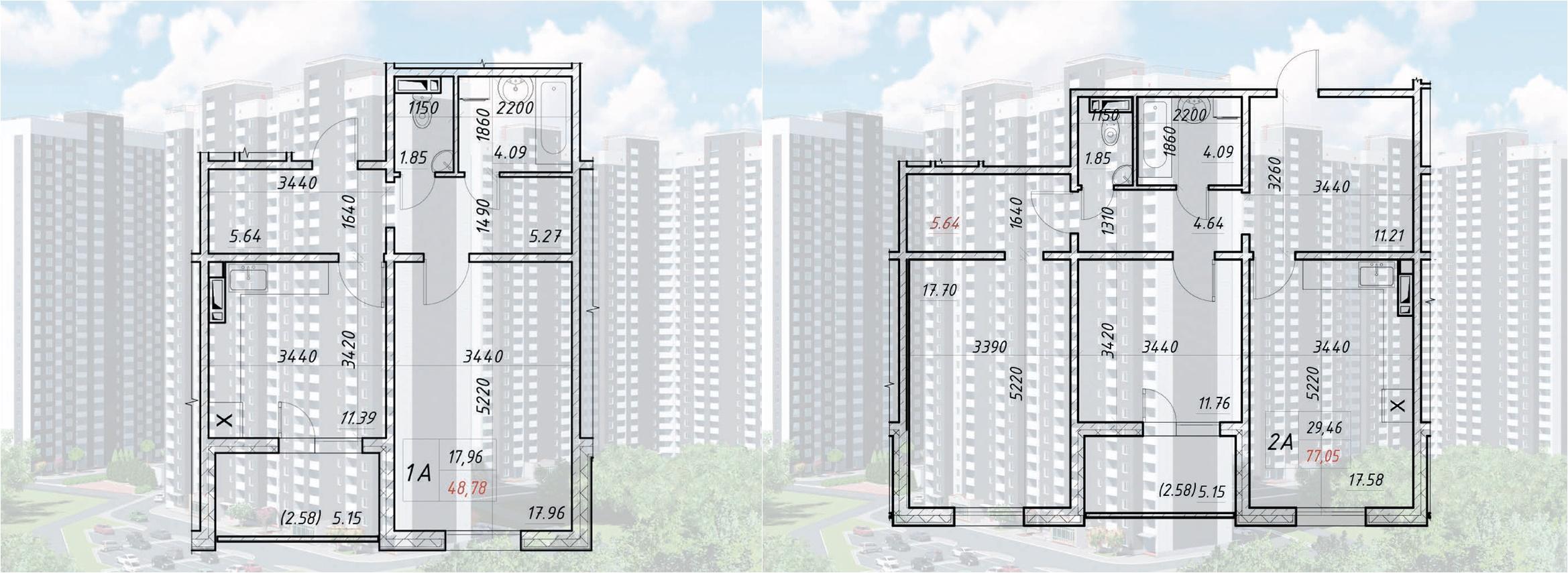 ЖК Деснянский вариант планировки квартир