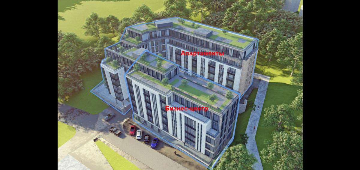 ЖК Компас Центр жилая и офисная части