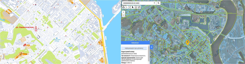 Проект по ул. Кирилловская, 11 данные кадастра и на карте