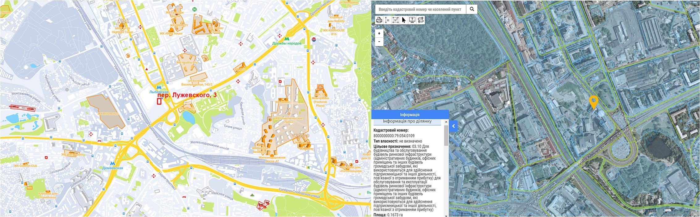 Проект реконструкции по ул. Лужевского, 3 данные кадастра и на карте