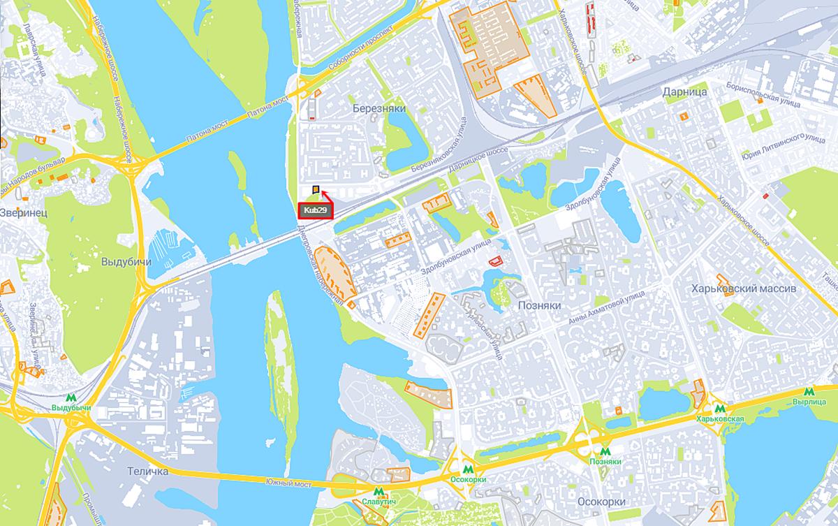 ЖК Куб 29 на карте