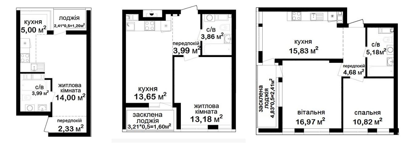 ЖК Феофания Сити варианты планировки квартир