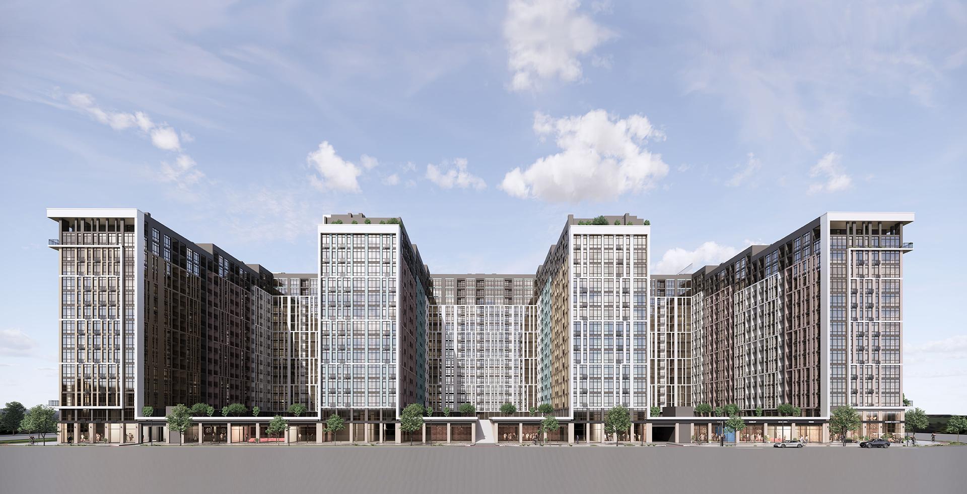 ЖК Феофания City визуализация первого дома