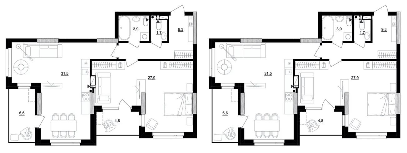 ЖК Kub 29 варианты планировки квартир
